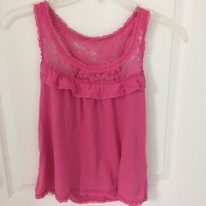 Abercrombie Pink Lace Racerback Tank